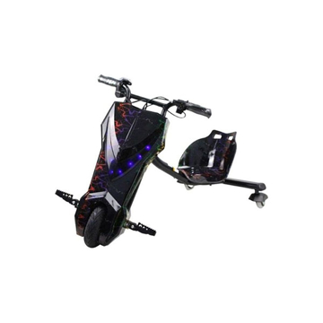 الصورة: ليمودو سكوتر درفت كهربائي بثلاث عجلات - أسود / متعدد