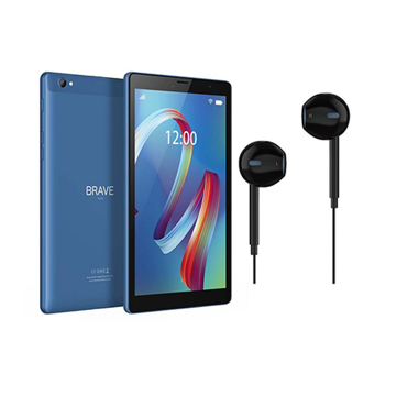 """Picture of Brave 8"""" WIFI 2GB RAM/32GB ROM 8MP (Blue ) (BT8X1) + Wired Ear phone + Protective case"""