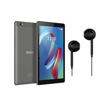 """Picture of Brave 8"""" WIFI 2GB RAM/32GB ROM 8MP (Grey ) (BT8X1) + Wired Ear phone + Protective case"""