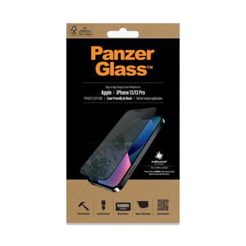 الصورة: بانزر جلاس حماية شاشة زجاجية لاجهزة ابل iPhone 13, 13 Pro - ميزة الخصوصيه