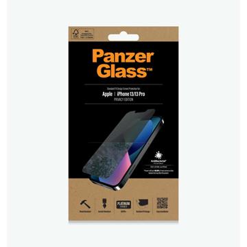 الصورة: بانزر جلاس حماية شاشة زجاجية Standrd Fit لاجهزة ابل iPhone 13, 13 Pro - ميزة الخصوصيه