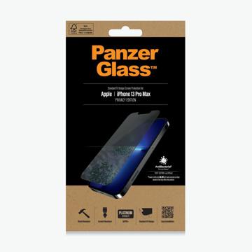 """الصورة: بانزر جلاس حماية شاشة زجاجية Standrd Fit لاجهزة ابل  Iphone 13 Pro MAx 6.7"""" - ميزة الخصوصيه"""