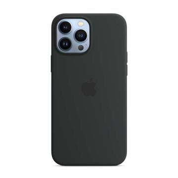 الصورة: ابل غطاء حماية خلفي سيليكون لاجهزة الآيفون 13 برو ماكس  - أسود