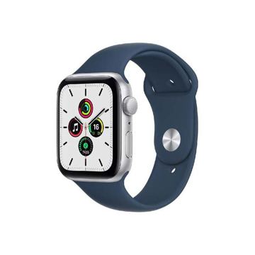 Picture of Apple Watch SE GPS, 40 mm Silver Aluminium Case with Abyss Blue Sport Band